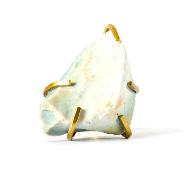 Handmade Stone Jewellery Handcrafted Ring Etta Rock by Saloukee Top View