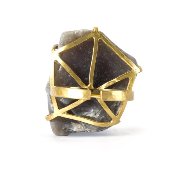 Handmade Quality Jewellery Handcrafted Ring Elvie Rock by Saloukee Bottom View
