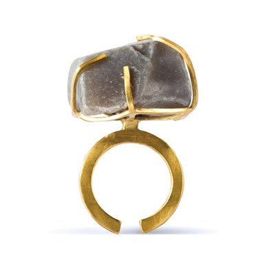 Handmade Quality Jewellery Handcrafted Ring Elvie Rock by Saloukee Front View