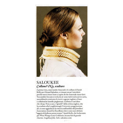 JEWELLERY PRESS SALOUKEE OBVERSE COLLAR IO DONNA