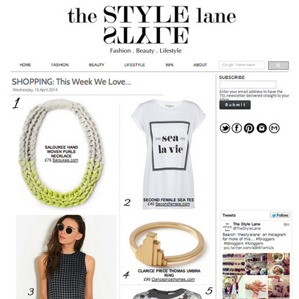 JEWELLERY PRESS SALOUKEE PURLS NECKLACE NEONS THE STYLE LANE