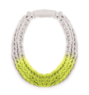 New Jewellery Designs Purls Necklace Neon Yellow