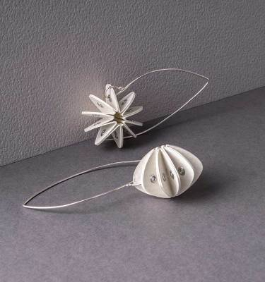 white paper earrings