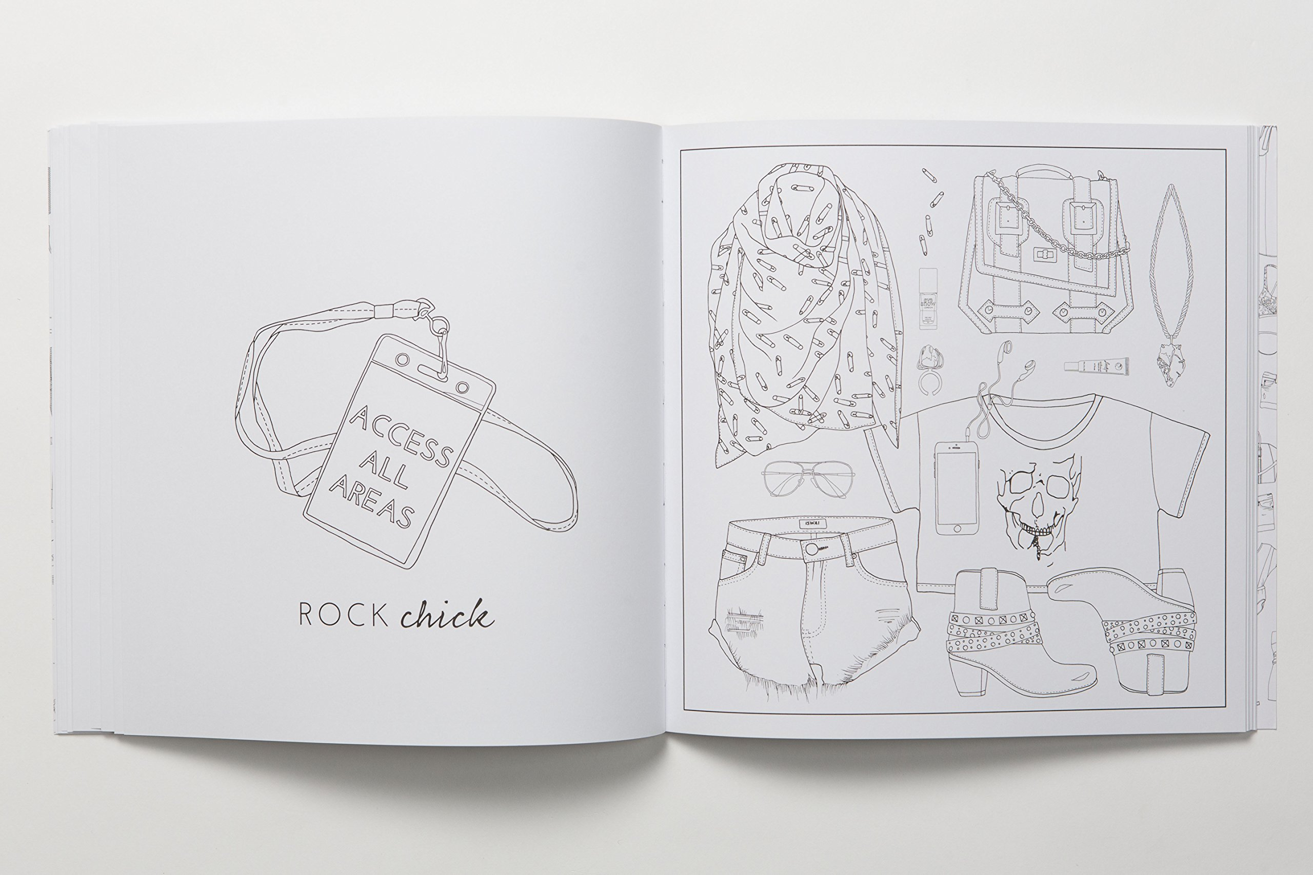 Outfit Of The Day Colouring Book - Jewellery By Saloukee