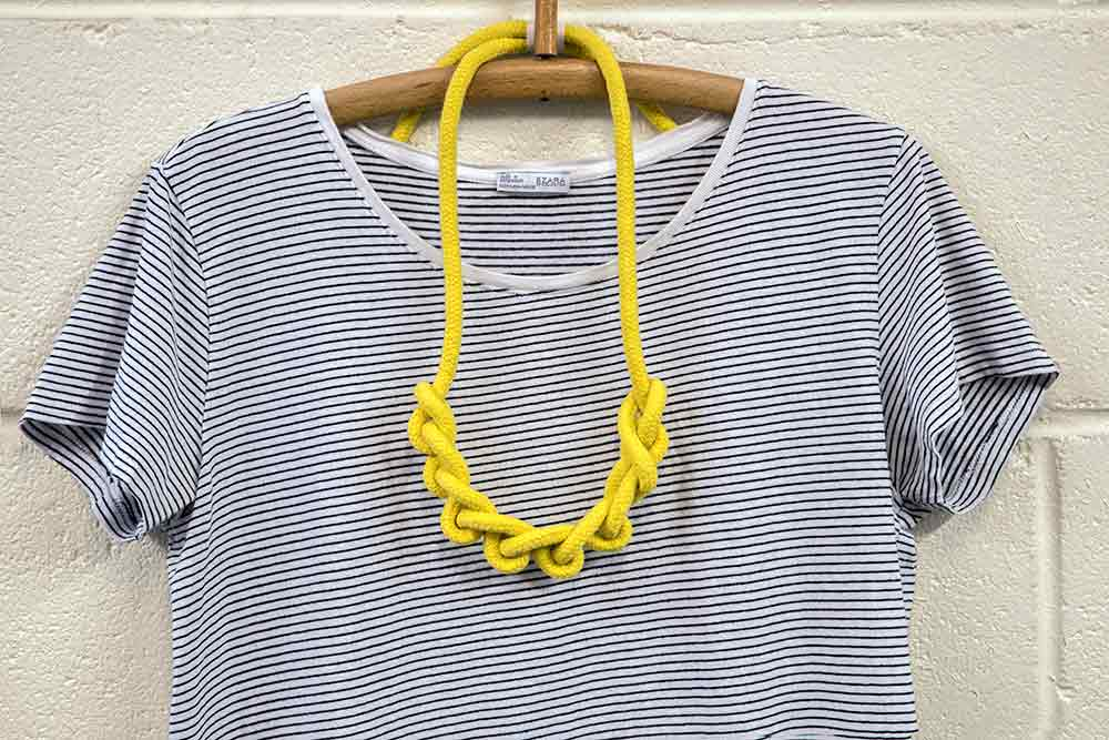 Cotton Rope Necklace Knotted