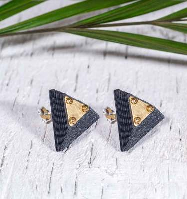 Paper Jewelry Black Earrings