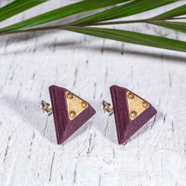 Paper Jewelry Purple Earrings