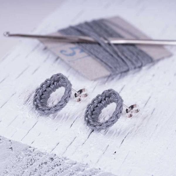 Linen jewellery earrings