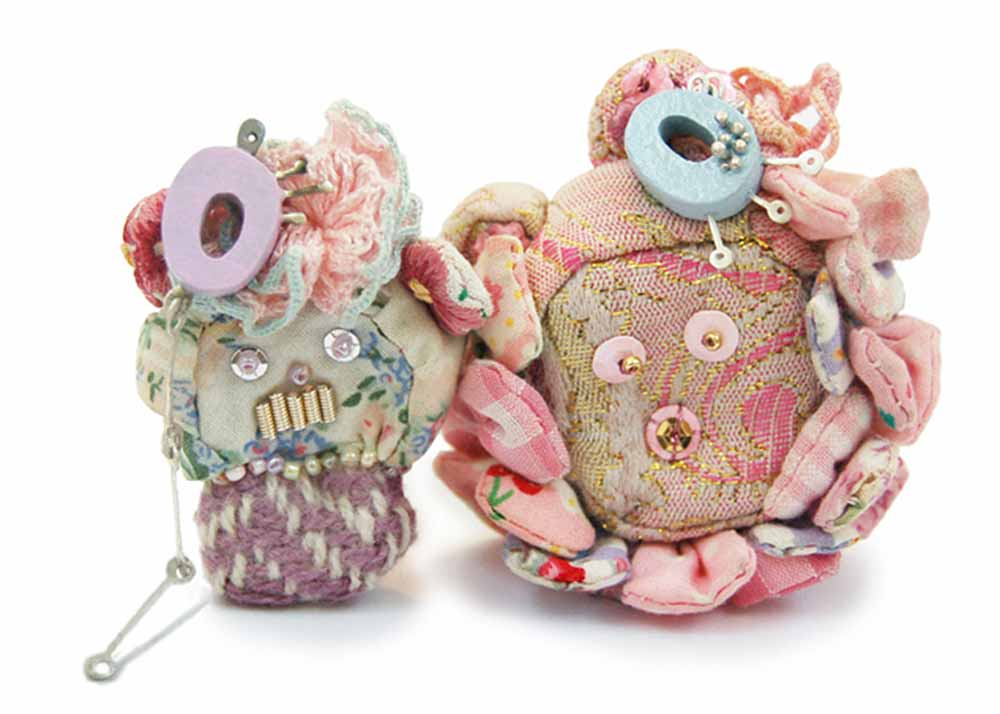 Textile Jewellery Superfrilly Lovers
