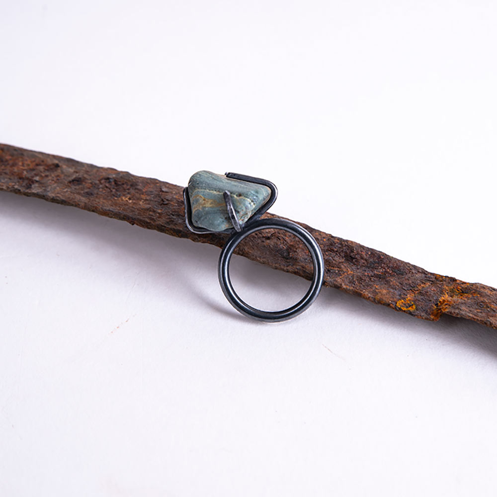 Iron Ring Made From Slag
