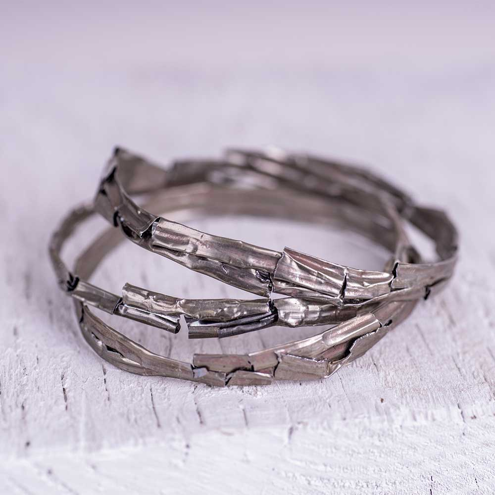 Tin Stacking Bangles By Saloukee