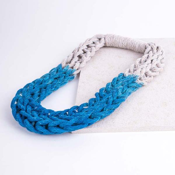 Blue Woven Jewellery Statement