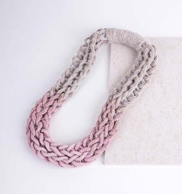 Pastel Pink Woven Jewellery