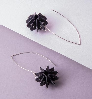 black paper earrings