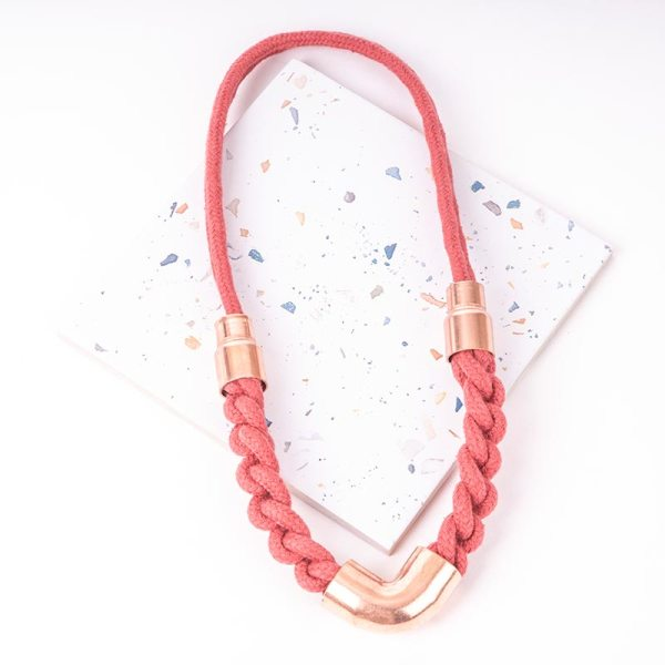Red Woven Necklace