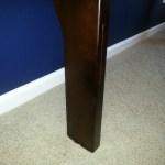 Restored desk leg