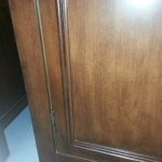 Cabinet door touch up
