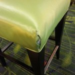 Repaired chair in hotel lobby