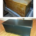 Old foot chest restored with paint