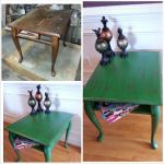 Old end table restored with paint