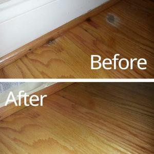 Water stained floor repair