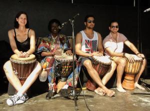 07.06.2014 Salsa am Strand in Scharbeutz - Drumming