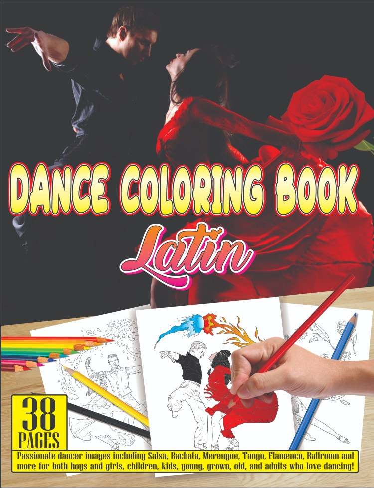 dance coloring book latin