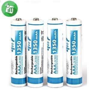 qoop Super Alkaline 4PCS AAA Rechargeable Battery 1350mAh - 1.2V