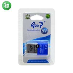qoop GD 9V 280mAh Rechargeable Li-ion Battery