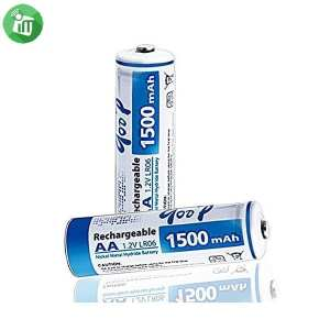 qoop Super Alkaline 2PCS AA Rechargeable Battery 1500mAh - 1.2V