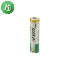BTY Super Alkaline 2PCS AA Rechargeable Battery 3000mAh