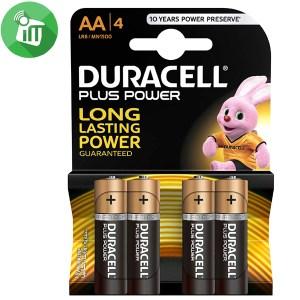 Duracell Plus Power AA Batteries 1.5V 4PCS