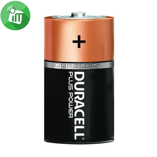 Duracell Plus Power Size D Batteries 1.5V 2PCS