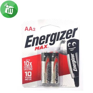 Energizer 2PCS AA Max + Powerseal Batteries 1.5V