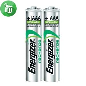 Energizer 2PCS AAA Recharge Extreme Batteries 800mAh