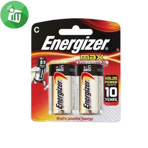 Energizer 2PCS Size C Max + Powerseal Batteries 1.5V