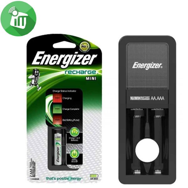 Energizer Mini Charger Batteries With 2PCS AA Recharge Battery 2000mAh