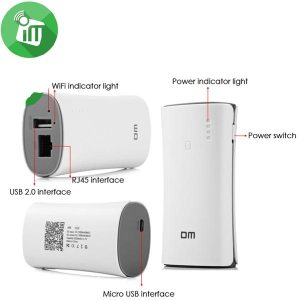 DM A66 3 in 1 Wireless WiFi Router Mobile Power Bank