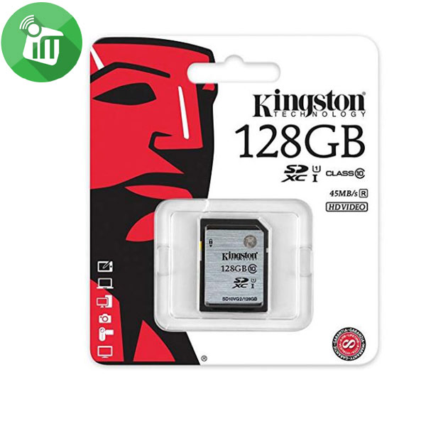 Kingston 128GB Class 10 SDHC Memory Card For Camera 45Mbs