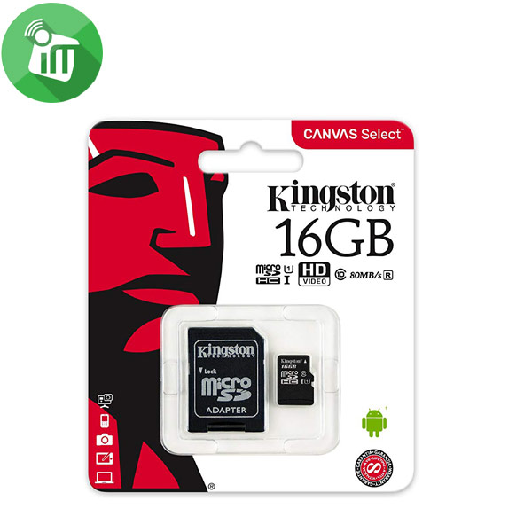 Kingston 16GB Class 10 80MB/s SDHC Micro Memory Card
