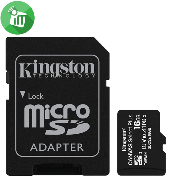 Kingston 16GB Class 10 Canvas Select Plus 100MB/s R SDXC Micro Memory card