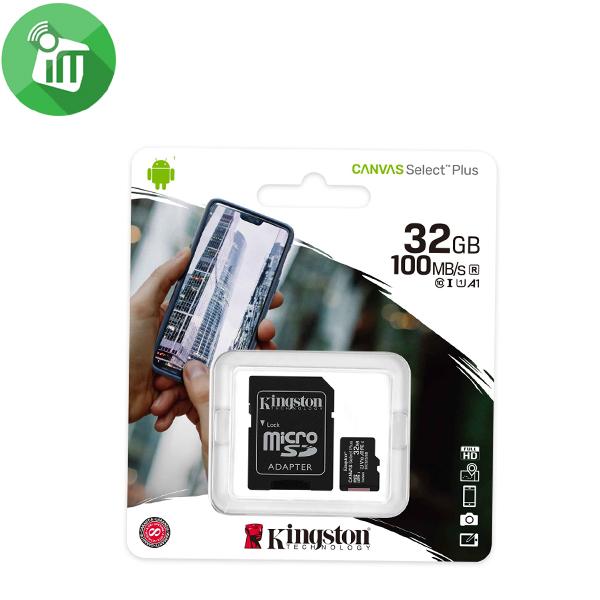 Kingston 32GB Class 10 Canvas Select Plus 100MB/s R SDHC Micro Memory card
