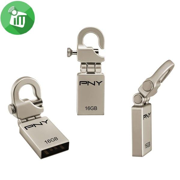 PNY Metal Hook Attache USB 2.0 Flash Drive 16GB