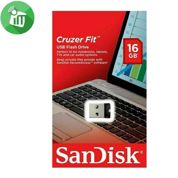 SANDISK CRUZER FIT USB 2.0 FLASH DRIVE 16GB