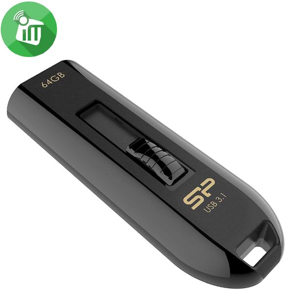Silicon Power Blaze B21 64GB Slide USB 3.1 Flash Drive
