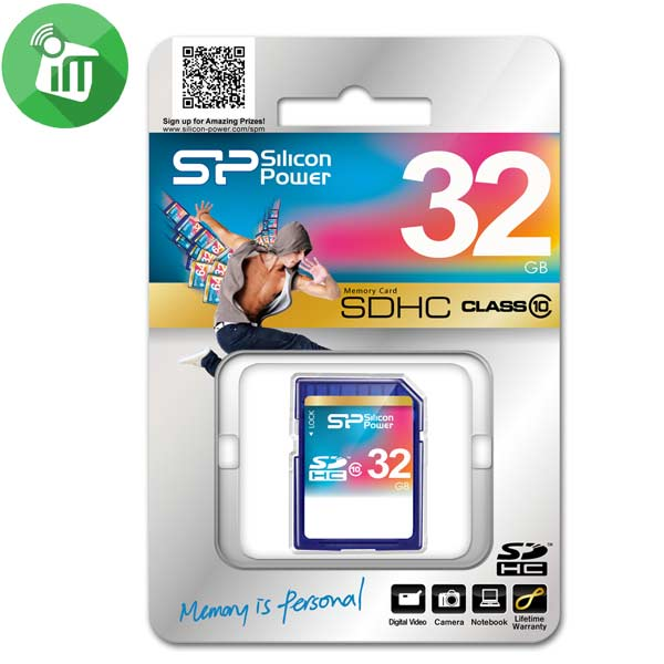 Silicon Power SDHC 32GB Class 10 Memory Card
