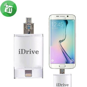 iDrive iFlash Lightning to USB OTG Drive For Apple and Android