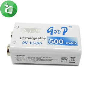qoop GD 9V 500mAh Rechargeable Li-ion Battery