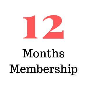 12 Months Membership (Subscription)