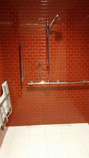 This is on of eight showers in this club.